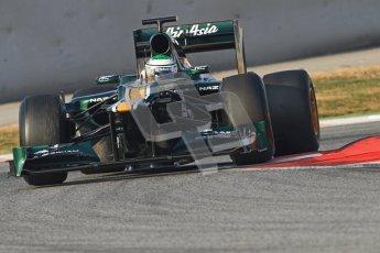 © 2012 Octane Photographic Ltd. Barcelona Winter Test 2 Day 3 - Saturday 3rd March 2012. Caterham CT01 - Heikki Kovalainen. Digital Ref : 0233cb7d9375