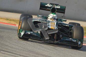 © 2012 Octane Photographic Ltd. Barcelona Winter Test 2 Day 3 - Saturday 3rd March 2012. Caterham CT01 - Heikki Kovalainen. Digital Ref : 0233cb7d9377