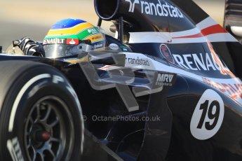 © 2012 Octane Photographic Ltd. Barcelona Winter Test 2 Day 3 - Saturday 3rd March 2012. Williams FW34 - Bruno Senna. Digital Ref : 0233cb7d9479