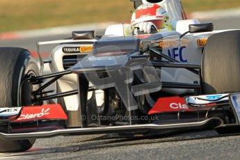 © 2012 Octane Photographic Ltd. Barcelona Winter Test 2 Day 3 - Saturday 3rd March 2012. Sauber C31 - Sergio Perez. Digital Ref : 0233cb7d9489