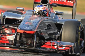 © 2012 Octane Photographic Ltd. Barcelona Winter Test 2 Day 3 - Saturday 3rd March 2012. McLaren MP4/27 - Jenson Button. Digital Ref : 0233cb7d9499