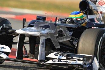 © 2012 Octane Photographic Ltd. Barcelona Winter Test 2 Day 3 - Saturday 3rd March 2012. Williams FW34 - Bruno Senna. Digital Ref : 0233cb7d9514