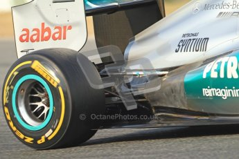 © 2012 Octane Photographic Ltd. Barcelona Winter Test Day 3 - Saturday 3rd March 2012. Mercedes W03 - Nico Rosberg. Digital Ref : 0233cb7d9677