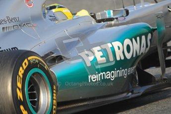 © 2012 Octane Photographic Ltd. Barcelona Winter Test Day 3 - Saturday 3rd March 2012. Mercedes W03 - Nico Rosberg. Digital Ref : 0233cb7d9730