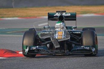 © 2012 Octane Photographic Ltd. Barcelona Winter Test 2 Day 3 - Saturday 3rd March 2012. Caterham CT01 - Heikki Kovalainen. Digital Ref : 0233lw7d2498