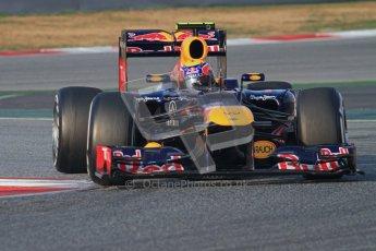 © 2012 Octane Photographic Ltd. Barcelona Winter Test 2 Day 3 - Saturday 3rd March 2012. Red Bull RB8 - Mark Webber. Digital Ref : 0233lw7d2522