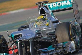 © 2012 Octane Photographic Ltd. Barcelona Winter Test Day 3 - Saturday 3rd March 2012. Mercedes W03 - Nico Rosberg. Digital Ref : 0233lw7d2633