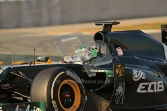 © 2012 Octane Photographic Ltd. Barcelona Winter Test 2 Day 3 - Saturday 3rd March 2012. Caterham CT01 - Heikki Kovalainen. Digital Ref : 0233lw7d3089