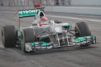 © 2012 Octane Photographic Ltd. Barcelona Winter Test Day 4 - Sunday 4th March 2012. Mercedes W03 - Michael Schumacher. Digital Ref : 0234cb1d2857