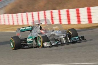© 2012 Octane Photographic Ltd. Barcelona Winter Test Day 4 - Sunday 4th March 2012. Mercedes W03 - Michael Schumacher. Digital Ref : 0234cb1d3126
