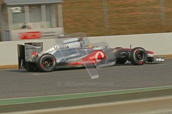 © 2012 Octane Photographic Ltd. Barcelona Winter Test 2 Day 4 - Sunday 4th March 2012. McLaren MP4/27 - Lewis Hamilton. Digital Ref : 0234cb1d3145
