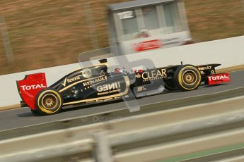 © 2012 Octane Photographic Ltd. Barcelona Winter Test 2 Day 4 - Sunday 4th March 2012. Lotus E20 - Kimi Raikkonen. Digital Ref : 0234cb1d3232