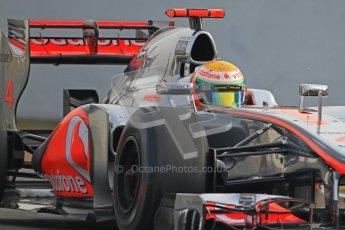 © 2012 Octane Photographic Ltd. Barcelona Winter Test 2 Day 4 - Sunday 4th March 2012. McLaren MP4/27 - Lewis Hamilton. Digital Ref : 0234cb7d0035