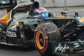 © 2012 Octane Photographic Ltd. Barcelona Winter Test 2 Day 4 - Sunday 4th March 2012. Caterham CT01 - Vitaly Petrov. Digital Ref : 0234lw7d3710
