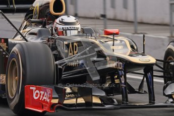 © 2012 Octane Photographic Ltd. Barcelona Winter Test 2 Day 4 - Sunday 4th March 2012. Lotus E20 - Kimi Raikkonen. Digital Ref : 0234lw7d3947