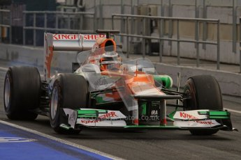 © 2012 Octane Photographic Ltd. Barcelona Winter Test 2 Day 4 - Sunday 4th March 2012. Force India VJM05 - Nico Hulkenberg. Digital Ref : 0234lw7d4068