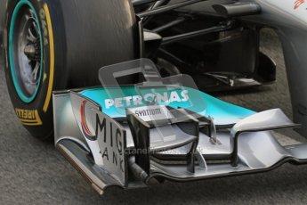 © 2012 Octane Photographic Ltd. Barcelona Winter Test Day 4 - Sunday 4th March 2012. Mercedes W03 - Michael Schumacher. Digital Ref : 0234lw7d4131