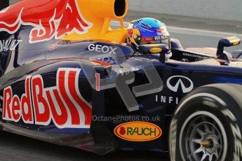 © 2012 Octane Photographic Ltd. Barcelona Winter Test 2 Day 4 - Sunday 4th March 2012. Red Bull RB8 - Sebastian Vettel. Digital Ref : 0234lw7d4179