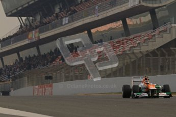 © 2012 Octane Photographic Ltd. Barcelona Winter Test 2 Day 4 - Sunday 4th March 2012. Force India VJM05 - Nico Hulkenberg. Digital Ref : 0234lw7d4240