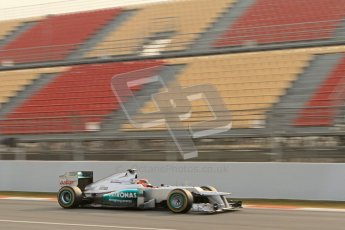 © 2012 Octane Photographic Ltd. Barcelona Winter Test Day 4 - Sunday 4th March 2012. Mercedes W03 - Michael Schumacher. Digital Ref : 0234lw7d4681