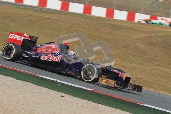 © 2012 Octane Photographic Ltd. Barcelona Winter Test 2 Day 4 - Sunday 4th March 2012. Toro Rosso STR7 - Daniel Ricciardo. Digital Ref : 0234lw7d4811