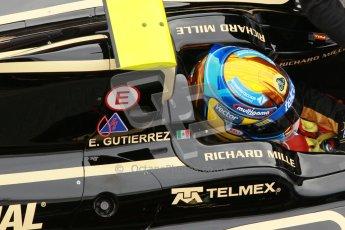 © Octane Photographic Ltd. GP2 Winter testing Barcelona Day 1, Tuesday 6th March 2012. Lotus GP, Esteban Gutierrez. Digital Ref :