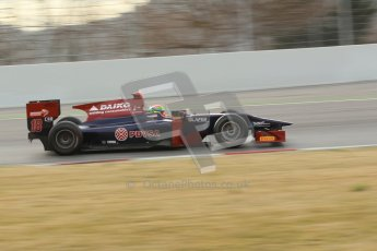 © Octane Photographic Ltd. GP2 Winter testing Barcelona Day 1, Tuesday 6th March 2012. Venezuela GP Lazarus, Fabrizio Crestani. Digital Ref :