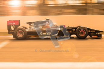 © Octane Photographic Ltd. GP2 Winter testing Barcelona Day 1, Tuesday 6th March 2012. Lotus GP, Esteban Gutierrez. Digital Ref : 0235cb1d3692