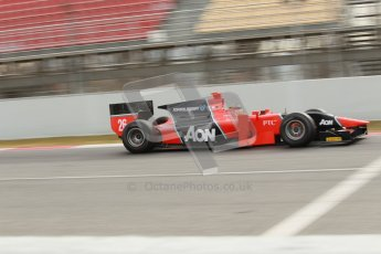 © Octane Photographic Ltd. GP2 Winter testing Barcelona Day 1, Tuesday 6th March 2012. Marussia Carlin, Max Chilton. Digital Ref : 0235cb1d3714