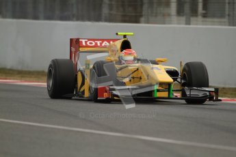 © Octane Photographic Ltd. GP2 Winter testing Barcelona Day 1, Tuesday 6th March 2012. DAMS, Felipe Nasr. Digital Ref : 0235cb7d0242