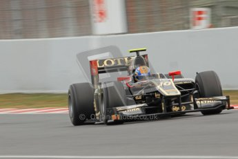 © Octane Photographic Ltd. GP2 Winter testing Barcelona Day 1, Tuesday 6th March 2012. Lotus GP, Esteban Gutierrez. Digital Ref : 0235cb7d0268