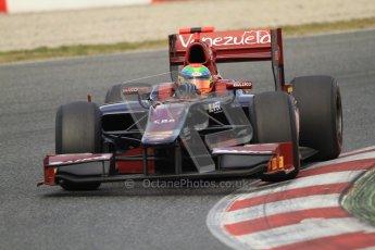 © Octane Photographic Ltd. GP2 Winter testing Barcelona Day 1, Tuesday 6th March 2012. Venezuela GP Lazarus, Fabrizio Crestani. Digital Ref : 0235cb7d0317