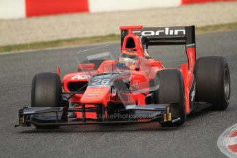 © Octane Photographic Ltd. GP2 Winter testing Barcelona Day 1, Tuesday 6th March 2012. Marussia Carlin, Max Chilton. Digital Ref : 0235cb7d0371