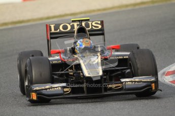© Octane Photographic Ltd. GP2 Winter testing Barcelona Day 1, Tuesday 6th March 2012. Lotus GP, Esteban Gutierrez. Digital Ref : 0235cb7d0520