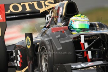 © Octane Photographic Ltd. GP2 Winter testing Barcelona Day 1, Tuesday 6th March 2012. Lotus GP, James Calado, Racing Steps. Digital Ref : 0235cb7d0560