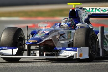 © Octane Photographic Ltd. GP2 Winter testing Barcelona Day 1, Tuesday 6th March 2012. Trident Racing, Julian Leal. Digital Ref : 0235cb7d1063
