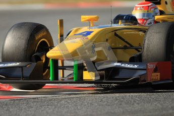 © Octane Photographic Ltd. GP2 Winter testing Barcelona Day 1, Tuesday 6th March 2012. DAMS, Felipe Nasr. Digital Ref : 0235cb7d1123