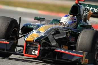 © Octane Photographic Ltd. GP2 Winter testing Barcelona Day 1, Tuesday 6th March 2012. Caterham Racing, Rodolfo Gonzales. Digital Ref : 0235cb7d1281