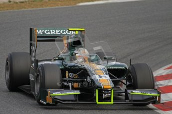 © Octane Photographic Ltd. GP2 Winter testing Barcelona Day 1, Tuesday 6th March 2012. Caterham Racing, Giedo Van der Garde. Digital Ref : 0235lw7d6000