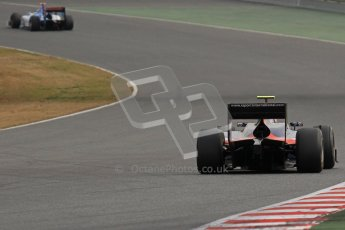 © Octane Photographic Ltd. GP2 Winter testing Barcelona Day 1, Tuesday 6th March 2012. iSport International, Marcus Ercisson. Digital Ref : 0235lw7d6145