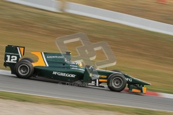 © Octane Photographic Ltd. GP2 Winter testing Barcelona Day 1, Tuesday 6th March 2012. Caterham Racing, Giedo Van der Garde. Digital Ref : 0235lw7d6157