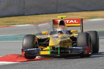 © Octane Photographic Ltd. GP2 Winter testing Barcelona Day 1, Tuesday 6th March 2012. DAMS, Felipe Nasr. Digital Ref : 0235lw7d7275