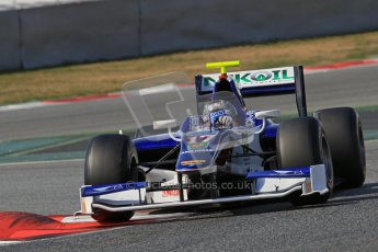 © Octane Photographic Ltd. GP2 Winter testing Barcelona Day 1, Tuesday 6th March 2012. Trident Racing, Julian Leal. Digital Ref : 0235lw7d7619