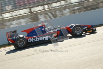 © Octane Photographic Ltd. GP2 Winter testing Barcelona Day 2, Wednesday 7th March 2012. iSport International, Marcus Ericsson. Digital Ref : 0236cb1d4538