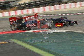 © Octane Photographic Ltd. GP2 Winter testing Barcelona Day 2, Wednesday 7th March 2012. Venezuela GP Lazarus, Fabrizio Crestani. Digital Ref : 0236cb1d4851
