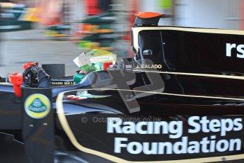 © Octane Photographic Ltd. GP2 Winter testing Barcelona Day 2, Wednesday 7th March 2012. Lotus GP, James Calado, Racing Steps. Digital Ref : 0236cb7d1652