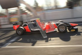 © Octane Photographic Ltd. GP2 Winter testing Barcelona Day 2, Wednesday 7th March 2012. Marussia Carlin, Rio Haryanto. Digital Ref : 0236cb7d1708