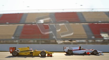 © Octane Photographic Ltd. GP2 Winter testing Barcelona Day 2, Wednesday 7th March 2012. Rapax, Tom Dillman and DAMS, Felipe Nasr. Digital Ref : 0236lw7d8145