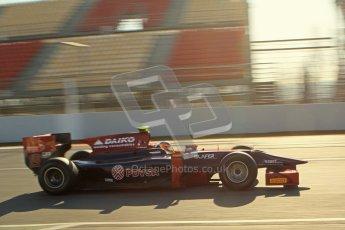 © Octane Photographic Ltd. GP2 Winter testing Barcelona Day 2, Wednesday 7th March 2012. Venezuela GP Lazarus, Giancarlo Senerelli. Digital Ref : 0236lw7d8262