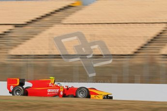 © Octane Photographic Ltd. GP2 Winter testing Barcelona Day 2, Wednesday 7th March 2012. Racing Engineering, Nathanael Berthon. Digital Ref : 0236lw7d8922